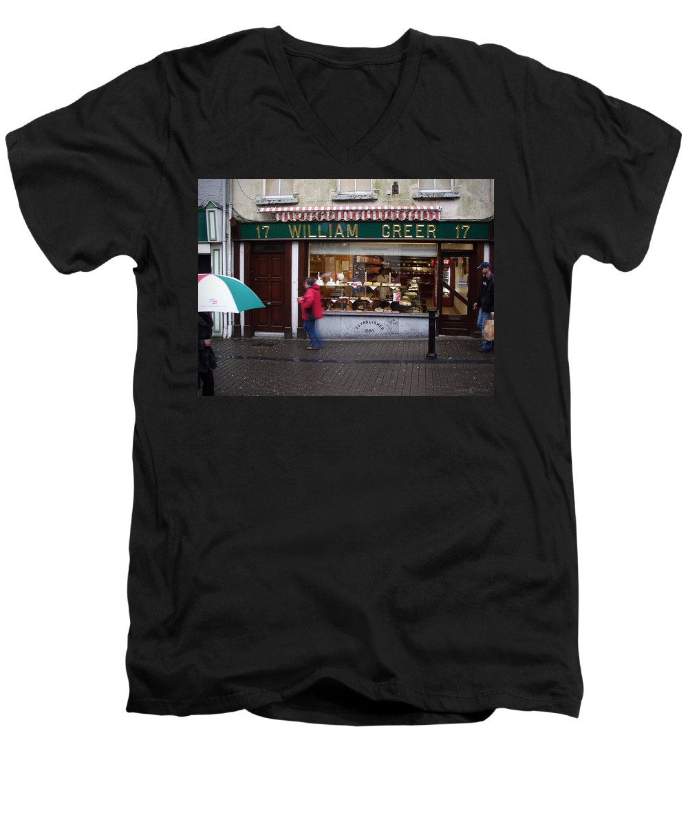 Ireland Men's V-Neck T-Shirt featuring the photograph William Greer by Tim Nyberg