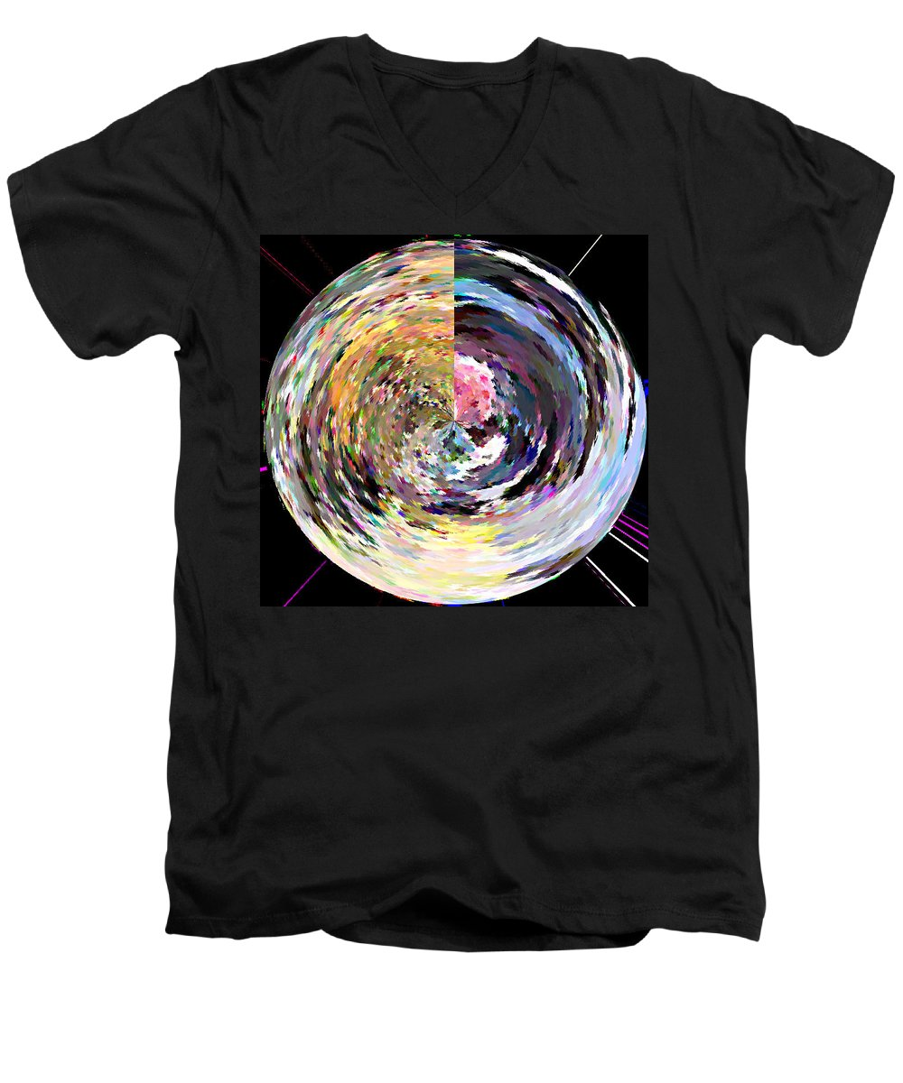 Digital Men's V-Neck T-Shirt featuring the painting Zing by Anil Nene