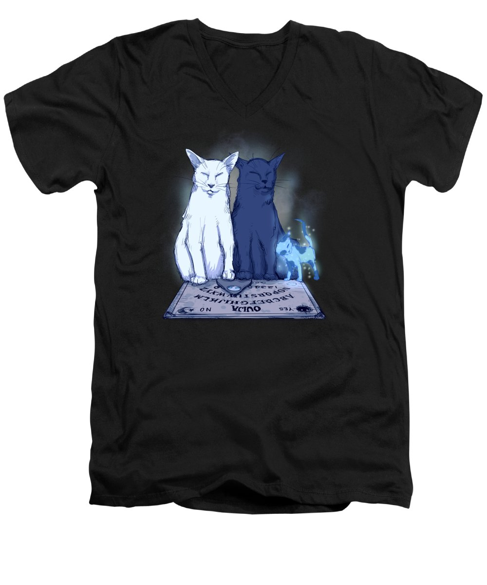 Ghost Drawings V-Neck T-Shirts