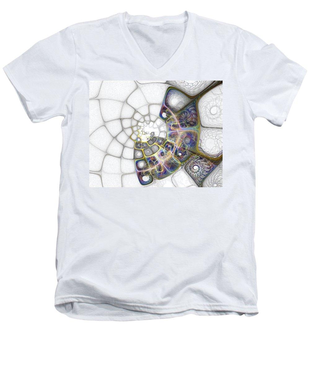 Digital Art Men's V-Neck T-Shirt featuring the digital art Memories by Amanda Moore