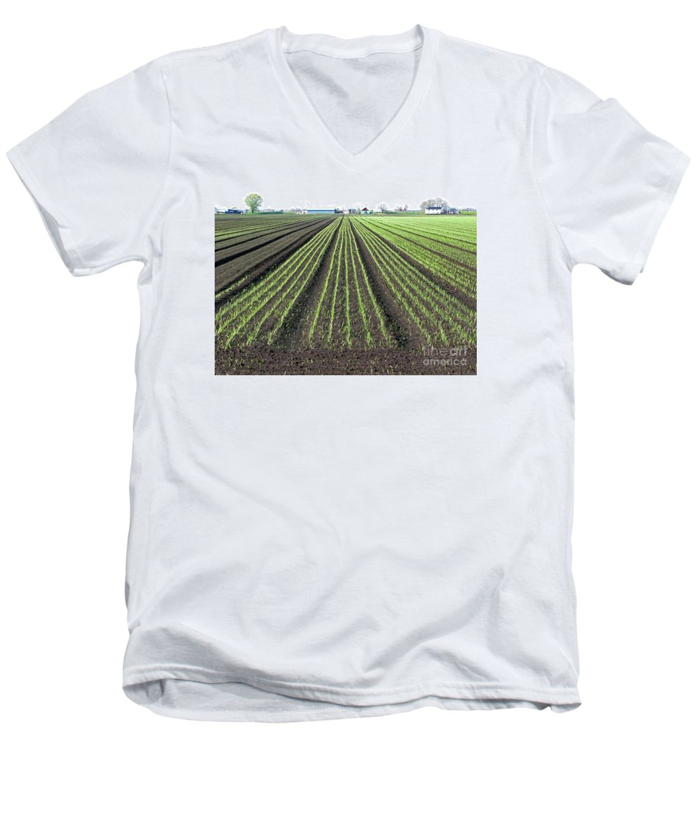 Farm Men's V-Neck T-Shirt featuring the photograph Good Earth by Ann Horn