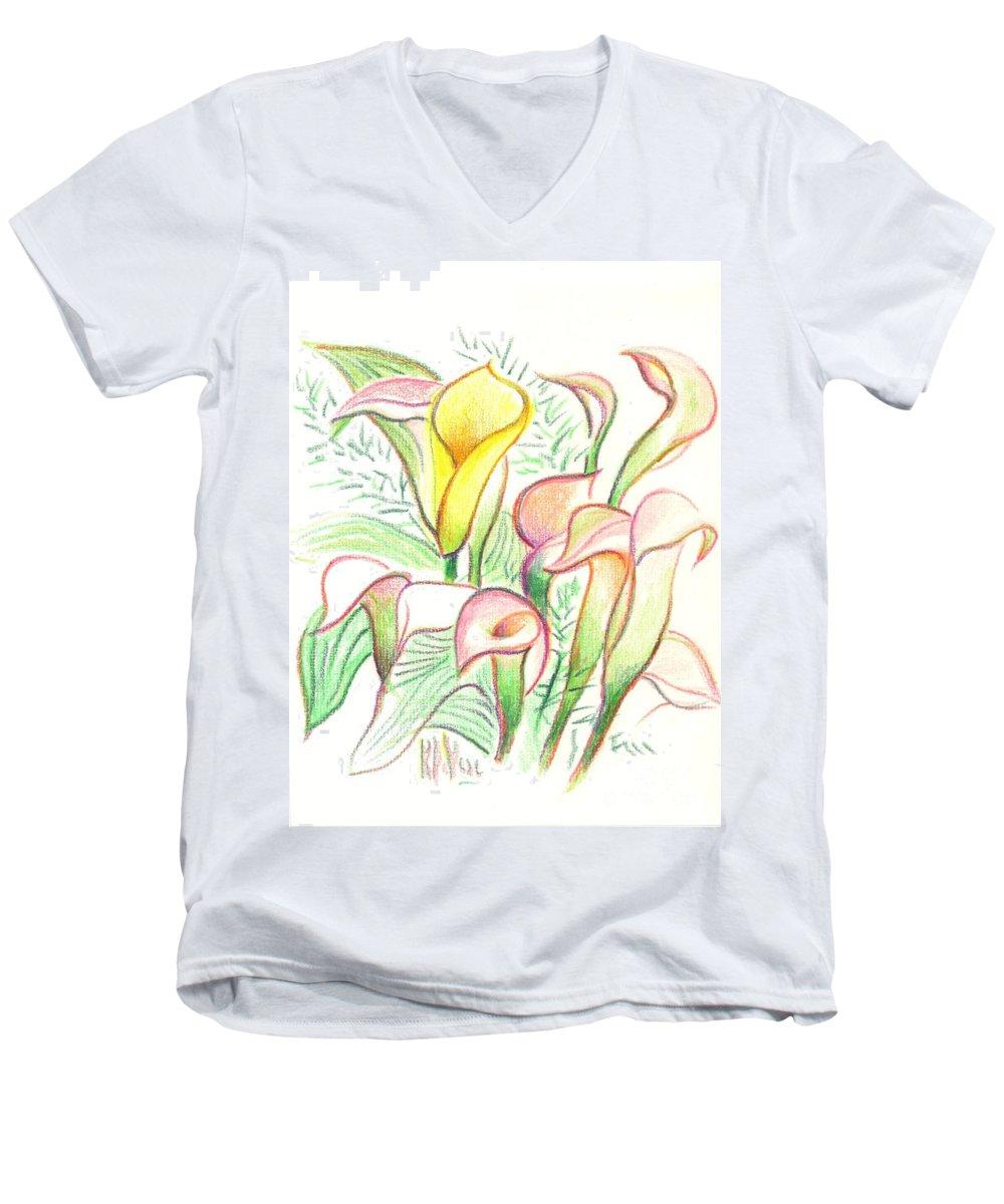 In The Golden Afternoon Men's V-Neck T-Shirt featuring the painting In The Golden Afternoon by Kip DeVore