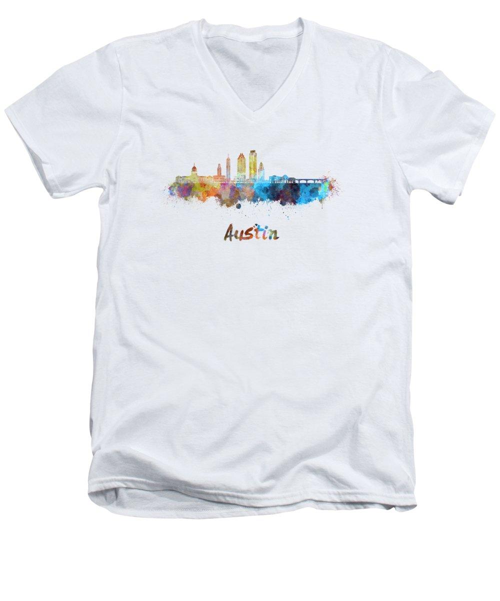 Austin Skyline V-Neck T-Shirts