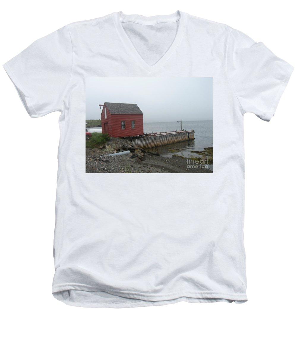 Photograph Bonavista Island Atlantic Ocean Newfoundland Men's V-Neck T-Shirt featuring the photograph Bonavista by Seon-Jeong Kim