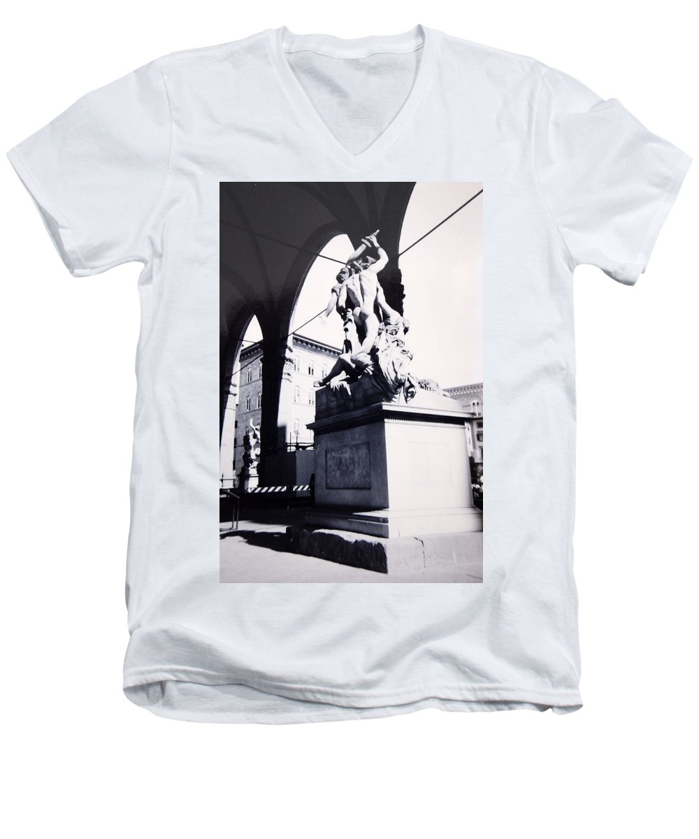Firenze Men's V-Neck T-Shirt featuring the photograph Florence by Kurt Hausmann