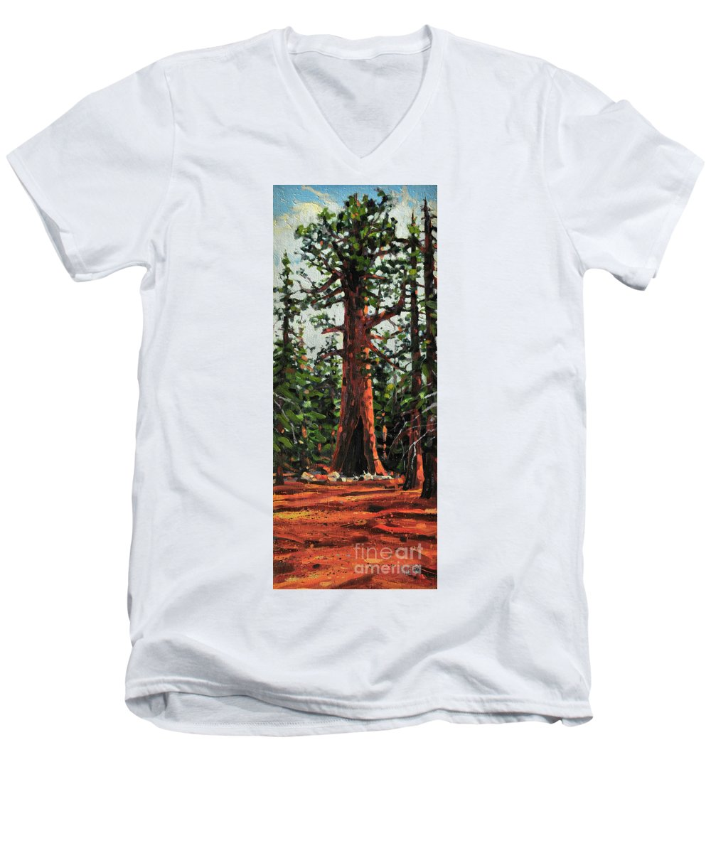 General Sherman Men's V-Neck T-Shirt featuring the painting General Sherman by Donald Maier