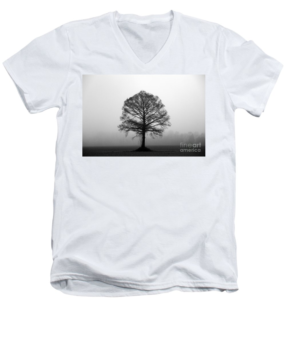 Tree Men's V-Neck T-Shirt featuring the photograph The Tree by Amanda Barcon