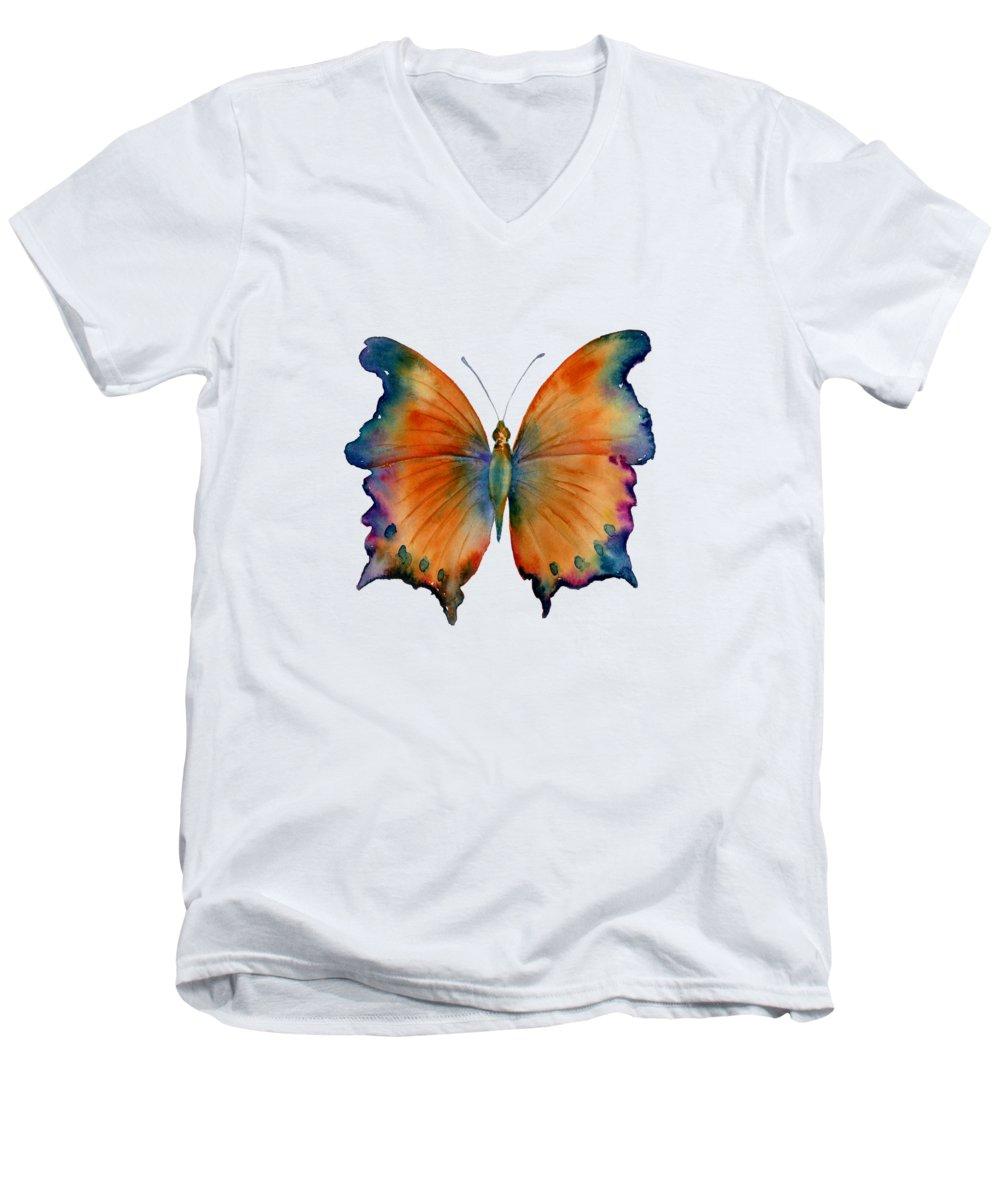 Orange V-Neck T-Shirts