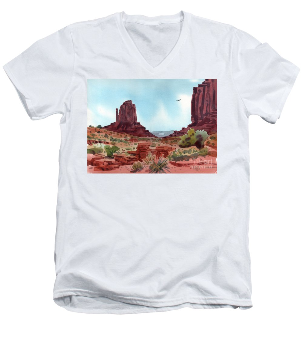 Right Mitten Men's V-Neck T-Shirt featuring the painting Right Mitten by Donald Maier