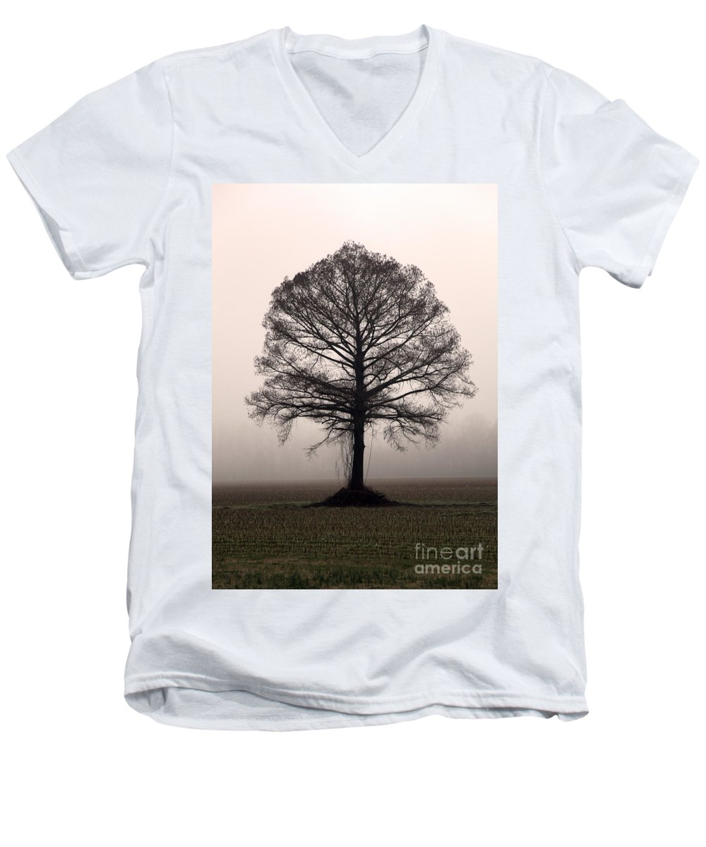 Trees Men's V-Neck T-Shirt featuring the photograph The Tree by Amanda Barcon