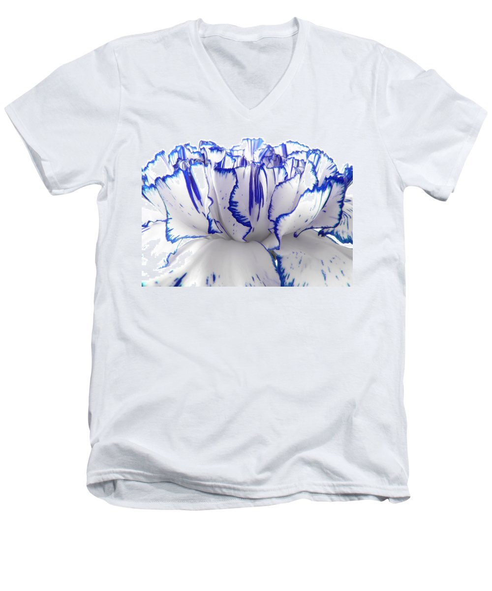 Carnation Men's V-Neck T-Shirt featuring the photograph Carnation by Daniel Csoka