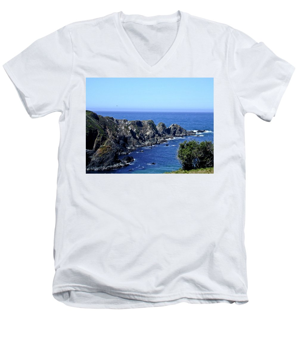 Arena Men's V-Neck T-Shirt featuring the photograph Arena Point California by Douglas Barnett