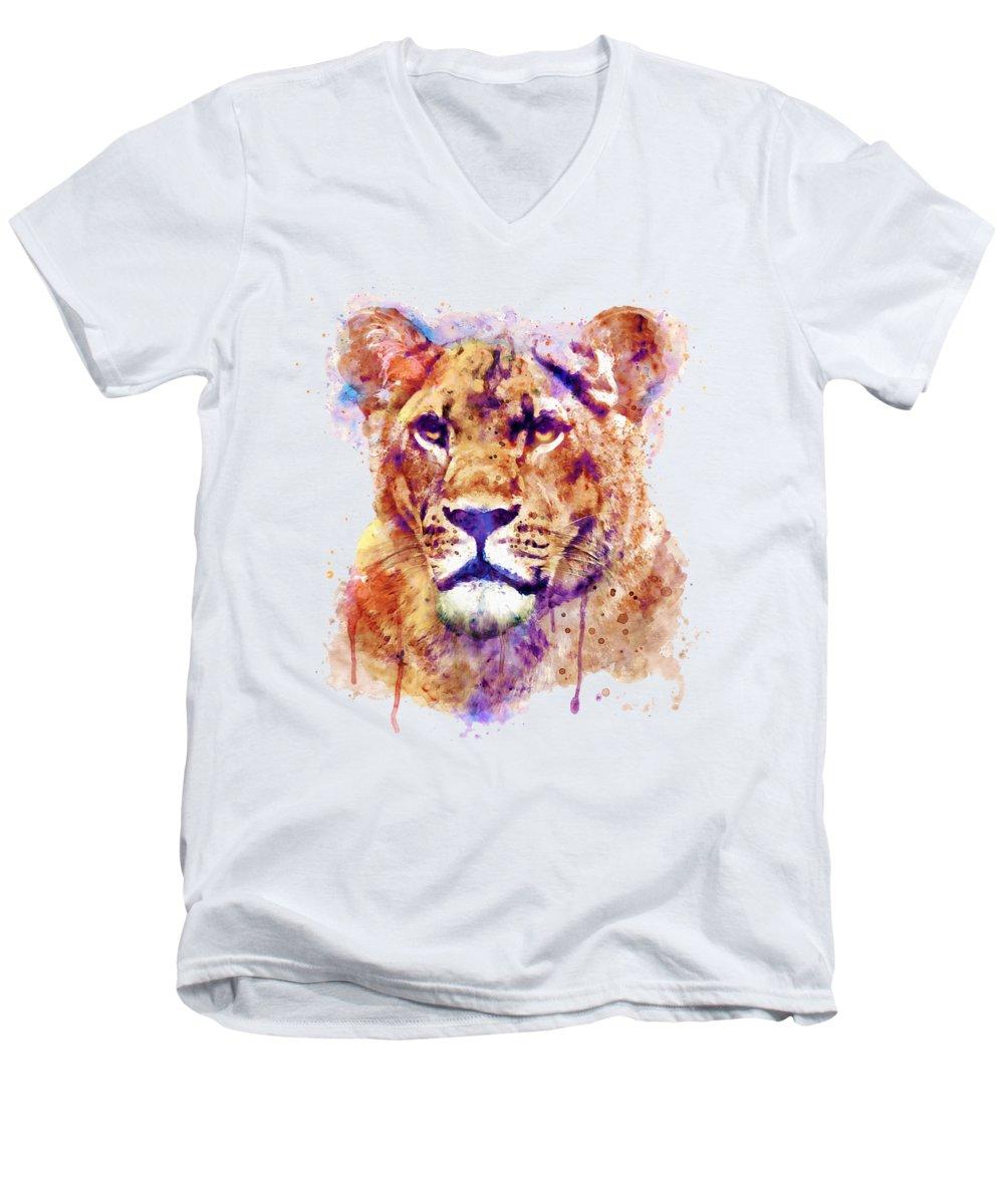 Light Paint V-Neck T-Shirts