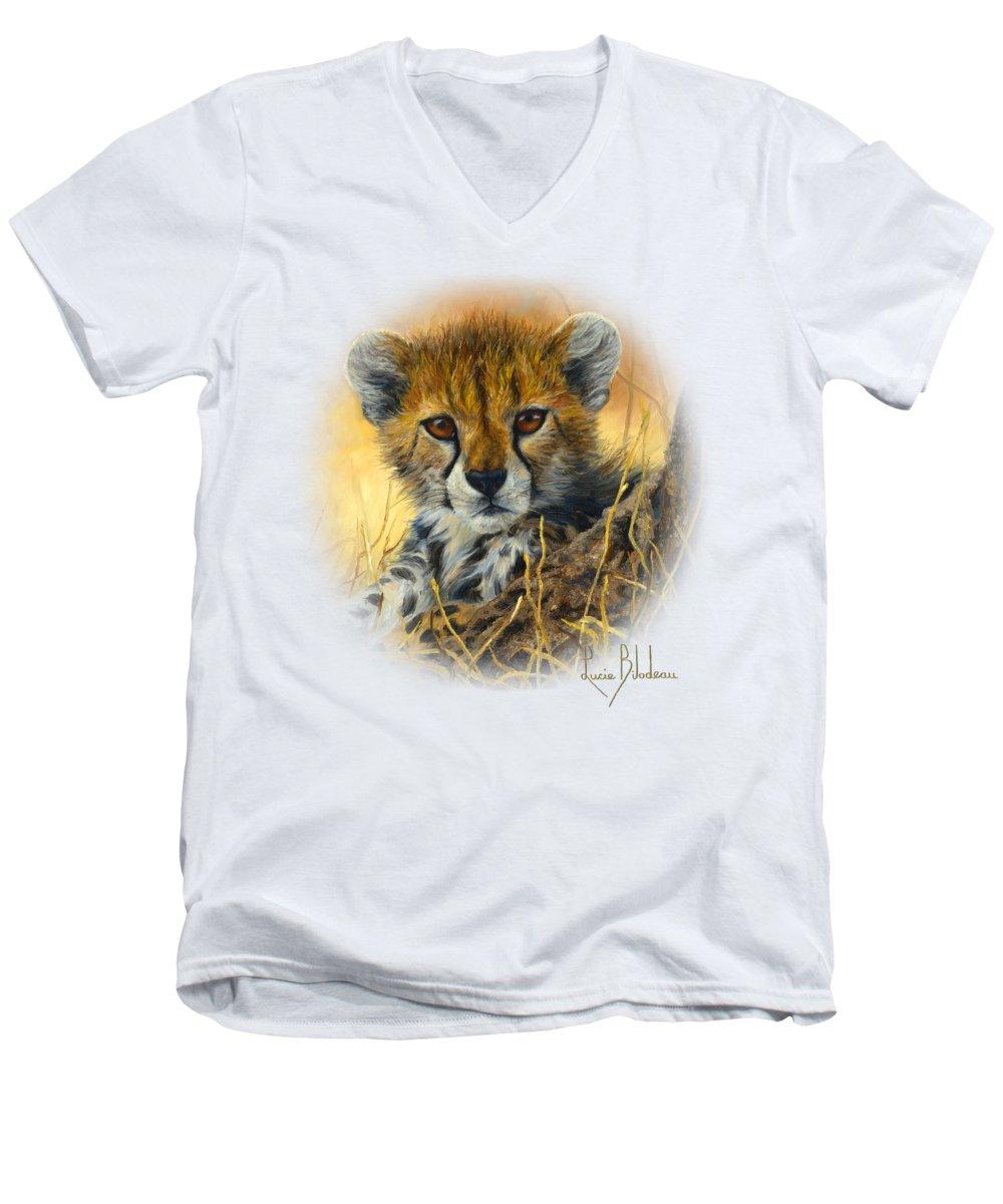 Cheetah V-Neck T-Shirts