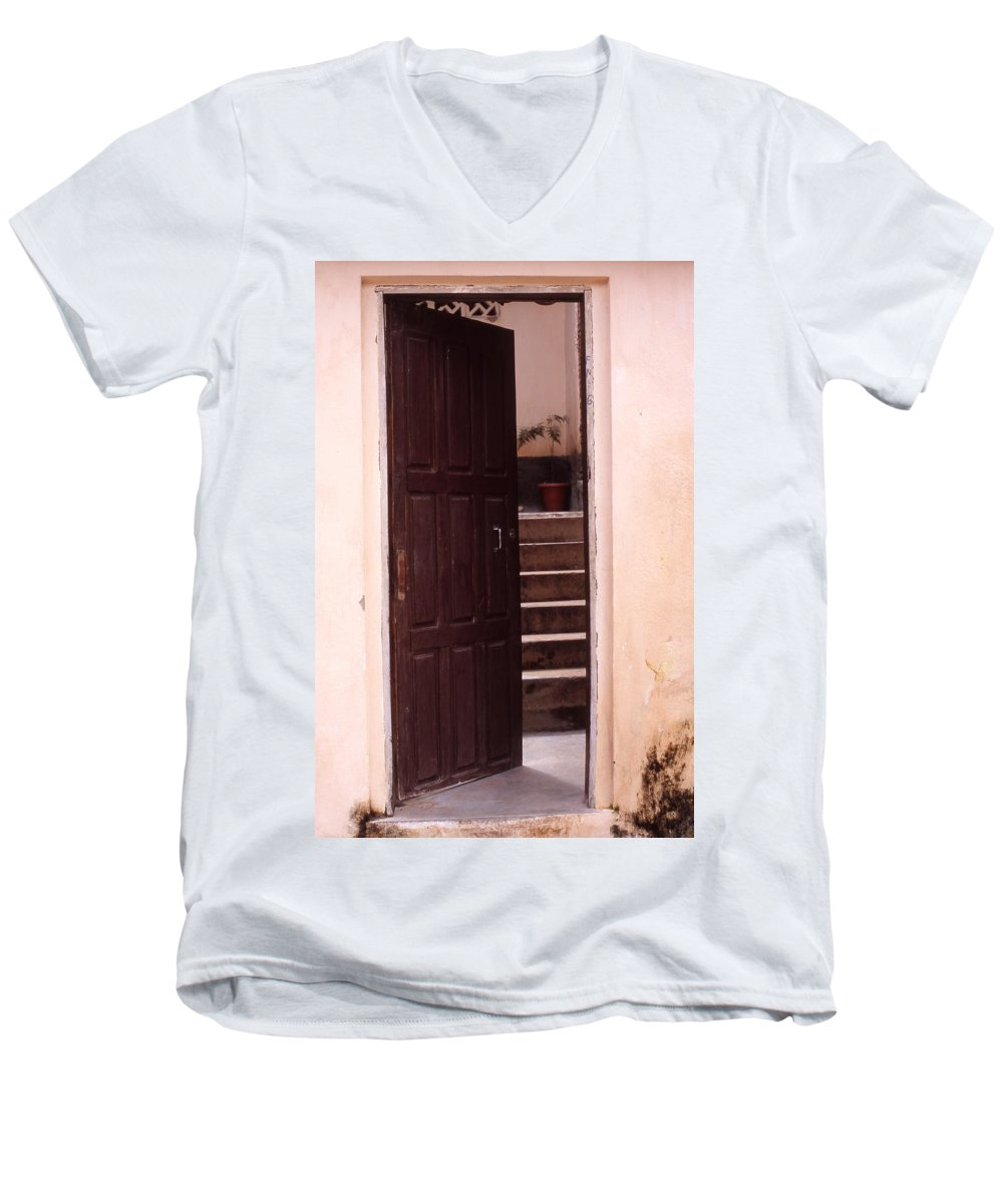 Bahia Men's V-Neck T-Shirt featuring the photograph Bahian Opening by Patrick Klauss
