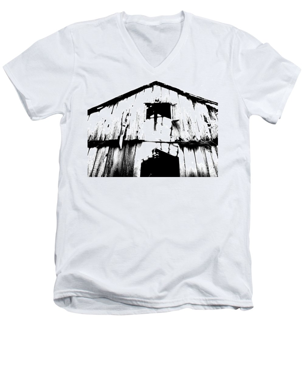 Barn Men's V-Neck T-Shirt featuring the photograph Barn by Amanda Barcon