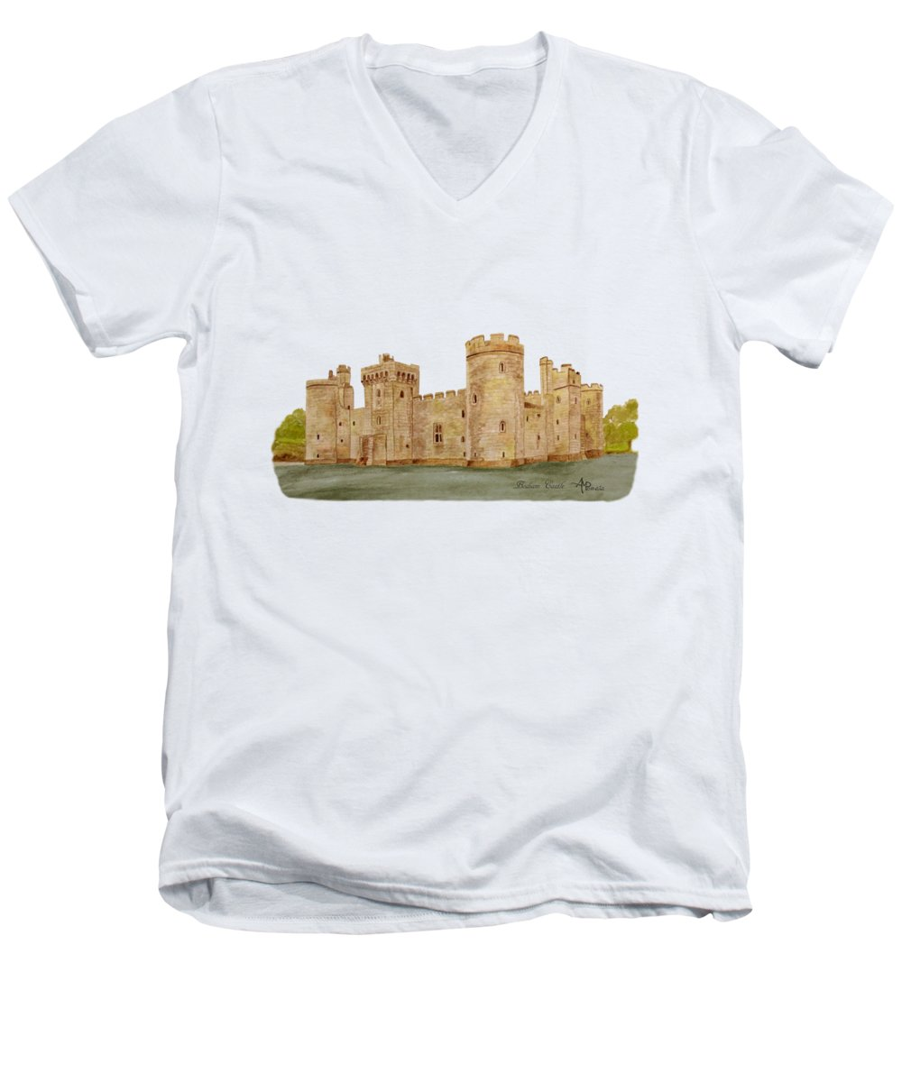 Castle V-Neck T-Shirts
