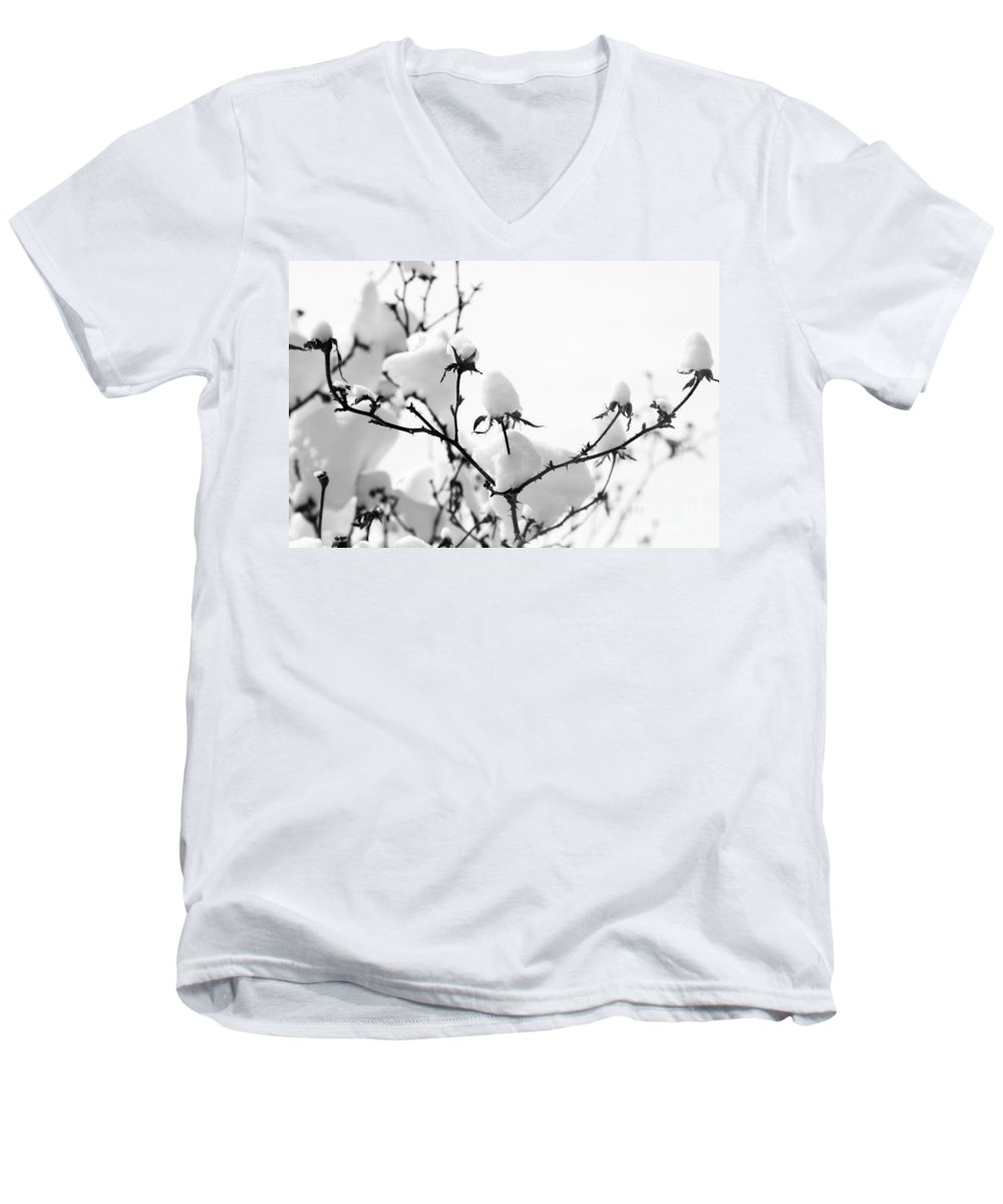 Branches Men's V-Neck T-Shirt featuring the photograph Branches by Amanda Barcon