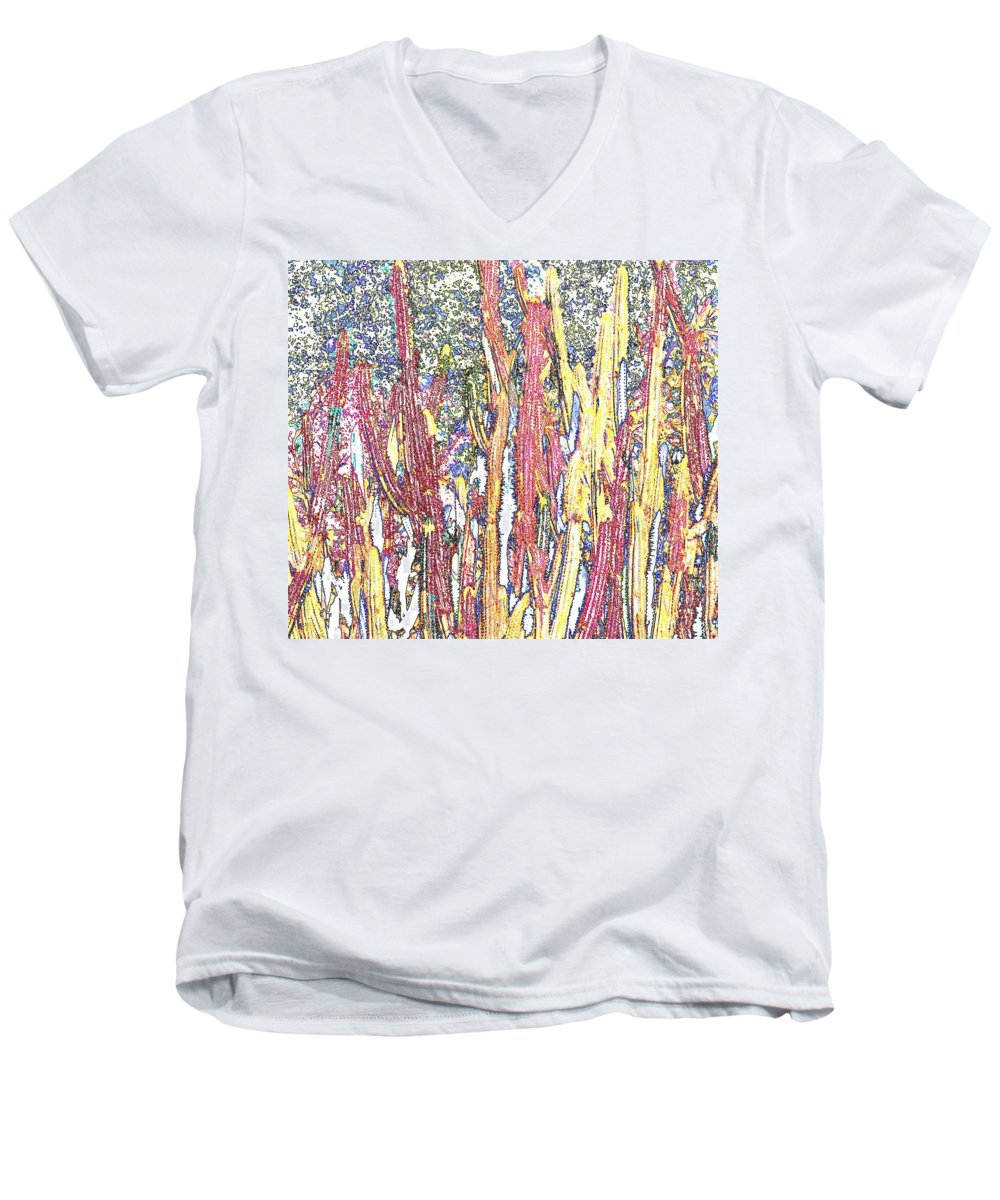 Forest Men's V-Neck T-Shirt featuring the photograph Brimstone Forest by Ian MacDonald