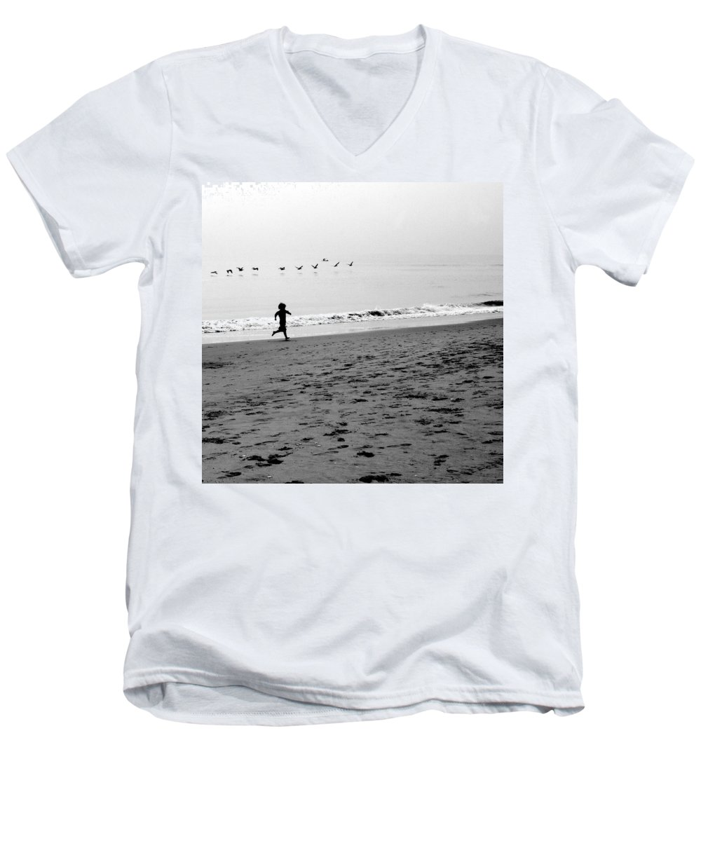 Photograph Men's V-Neck T-Shirt featuring the photograph Carefree by Jean Macaluso