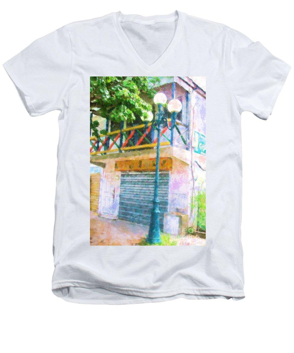 St. Martin Men's V-Neck T-Shirt featuring the photograph Cest La Vie by Debbi Granruth