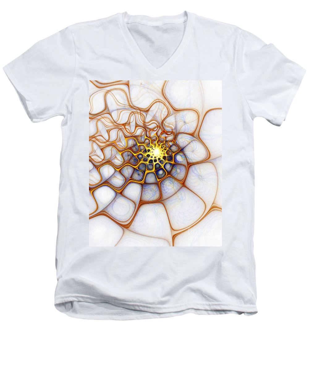 Digital Art Men's V-Neck T-Shirt featuring the digital art Charlotte's Web by Amanda Moore
