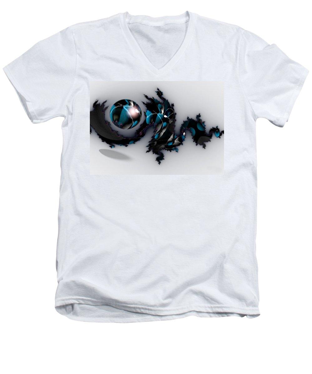 China Dragon Rythm Float Dance Men's V-Neck T-Shirt featuring the digital art China Dragon by Veronica Jackson