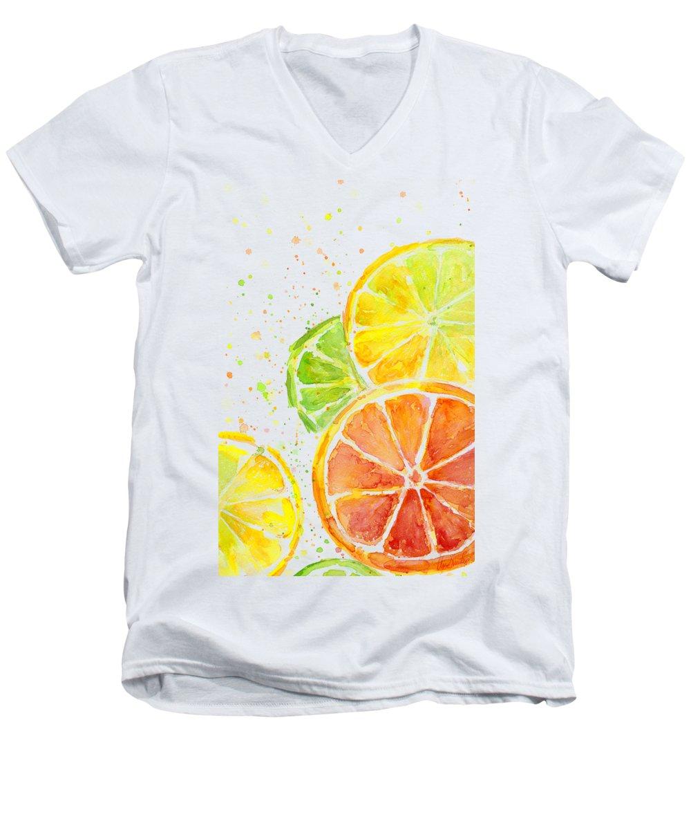 Lime V-Neck T-Shirts
