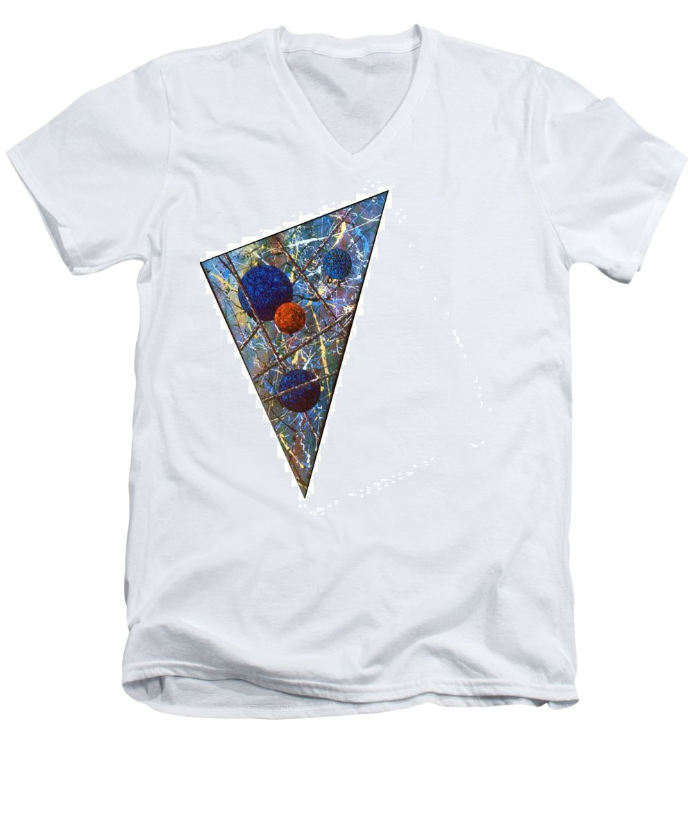 Abstract Men's V-Neck T-Shirt featuring the painting Continuum 3 by Micah Guenther