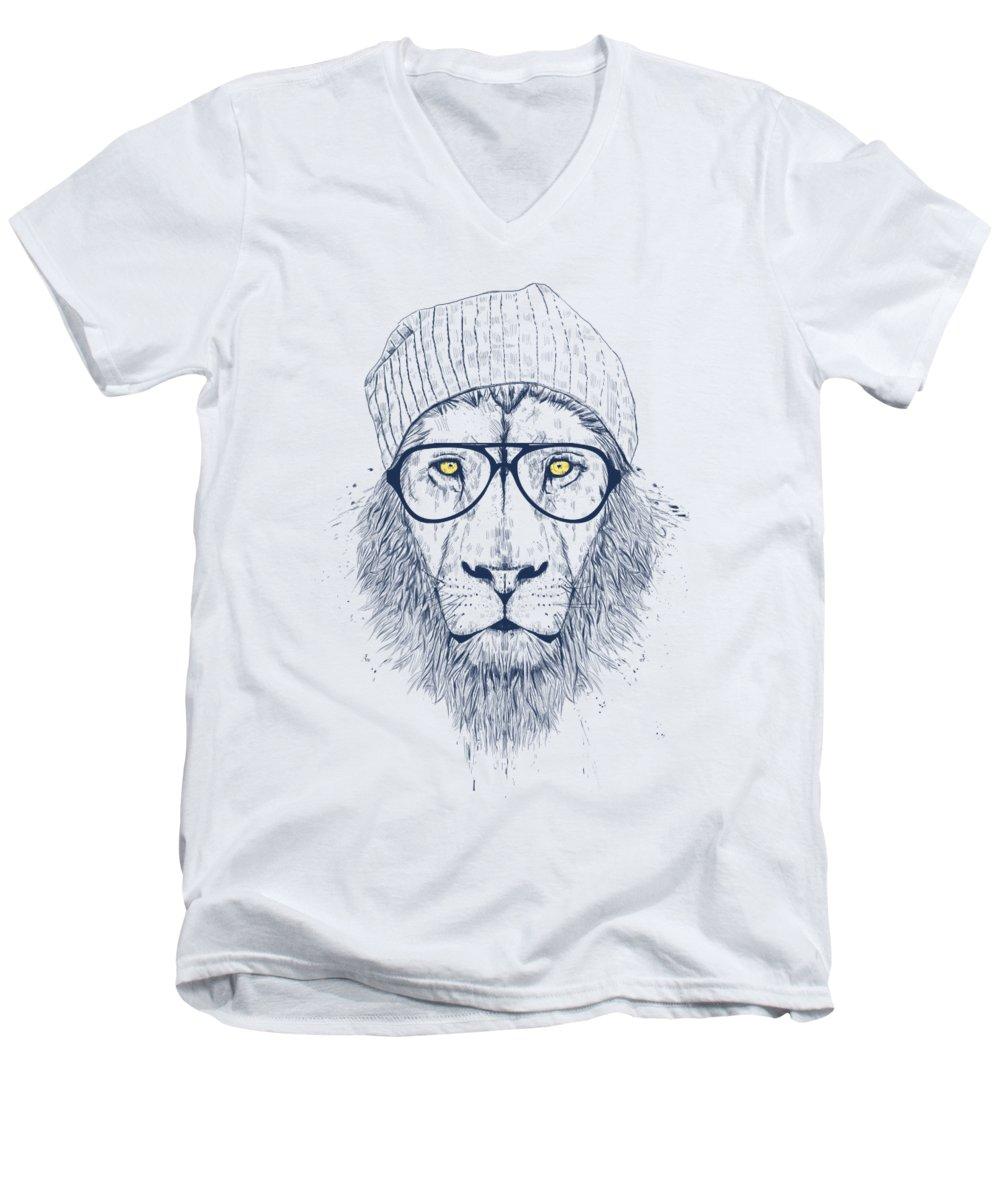 Lion V-Neck T-Shirts