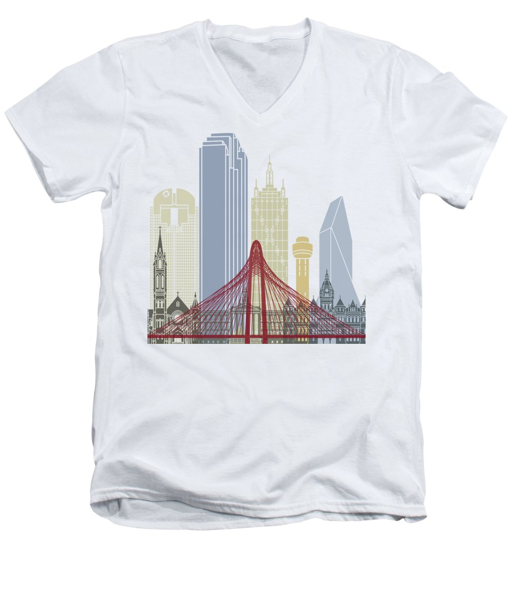Dallas Skyline V-Neck T-Shirts