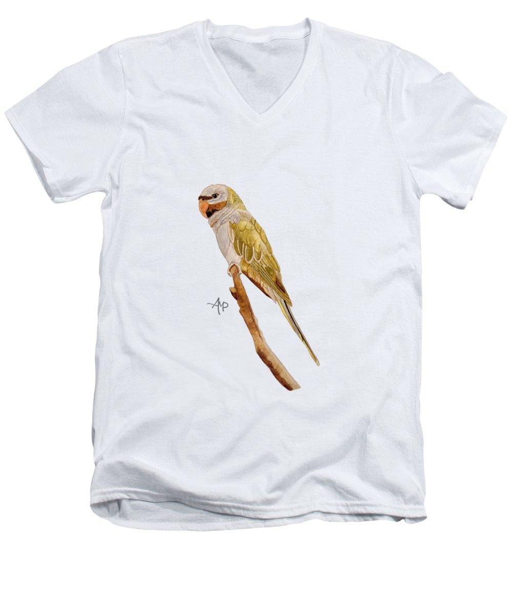 Parakeet V-Neck T-Shirts