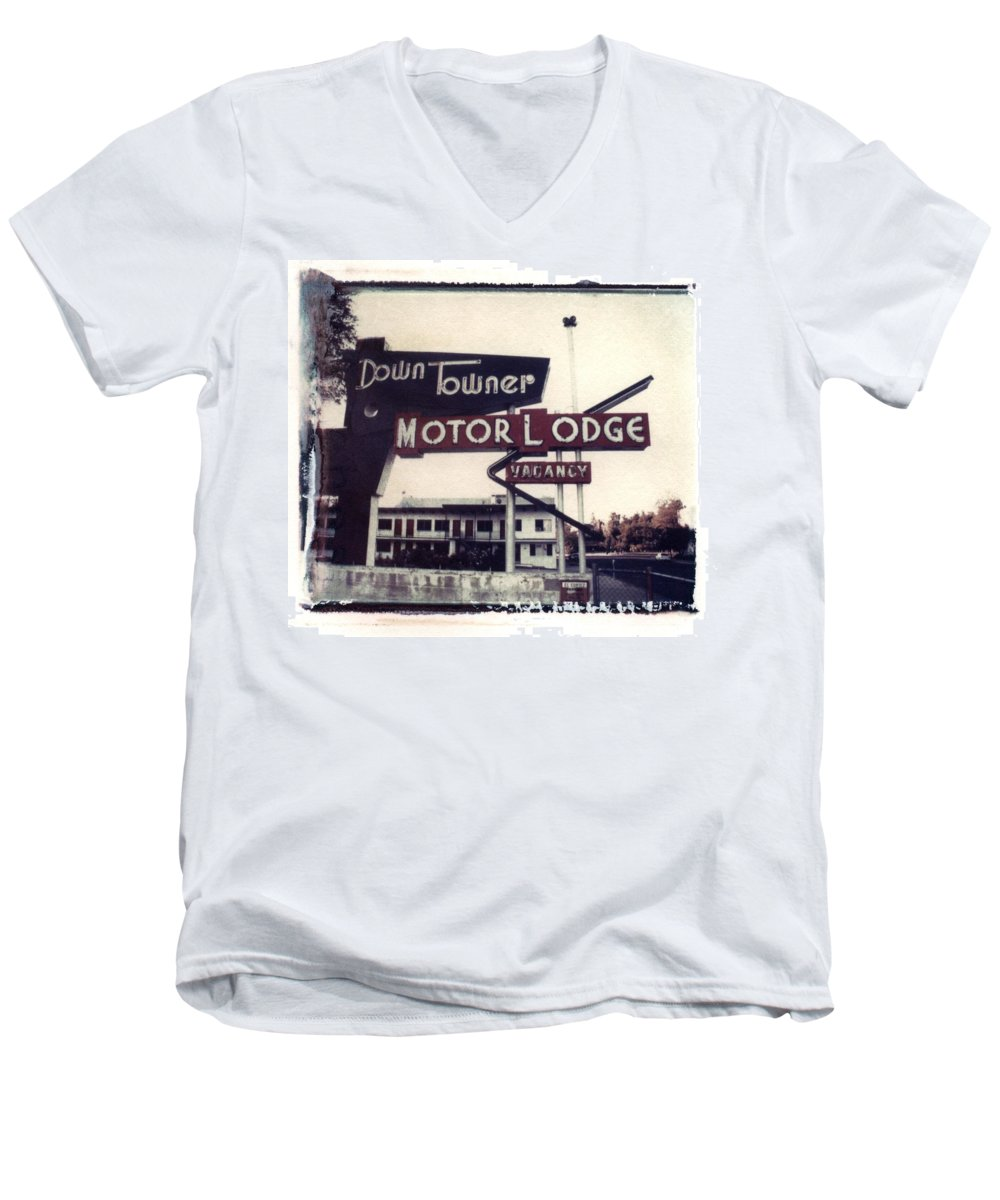 Landscape Men's V-Neck T-Shirt featuring the photograph Down Towner by Jane Linders