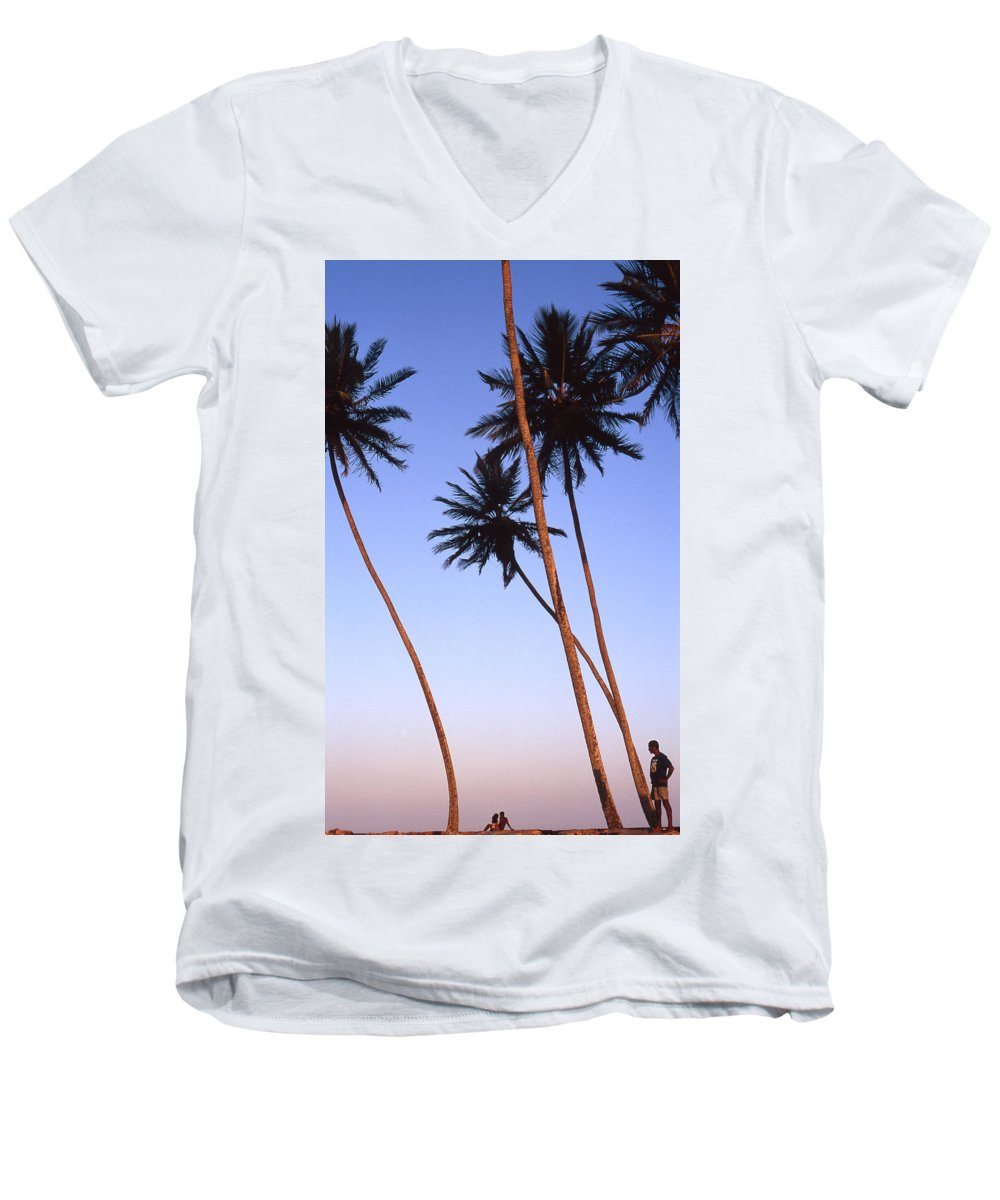 Bahia Men's V-Neck T-Shirt featuring the photograph Dusk In Morro by Patrick Klauss