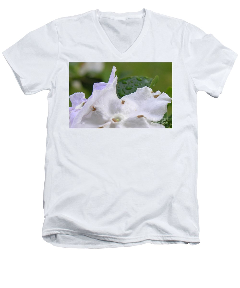 Flower Men's V-Neck T-Shirt featuring the photograph Easter Surprise by Richard Rizzo