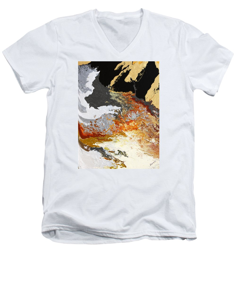Fusionart Men's V-Neck T-Shirt featuring the painting Fathom by Ralph White