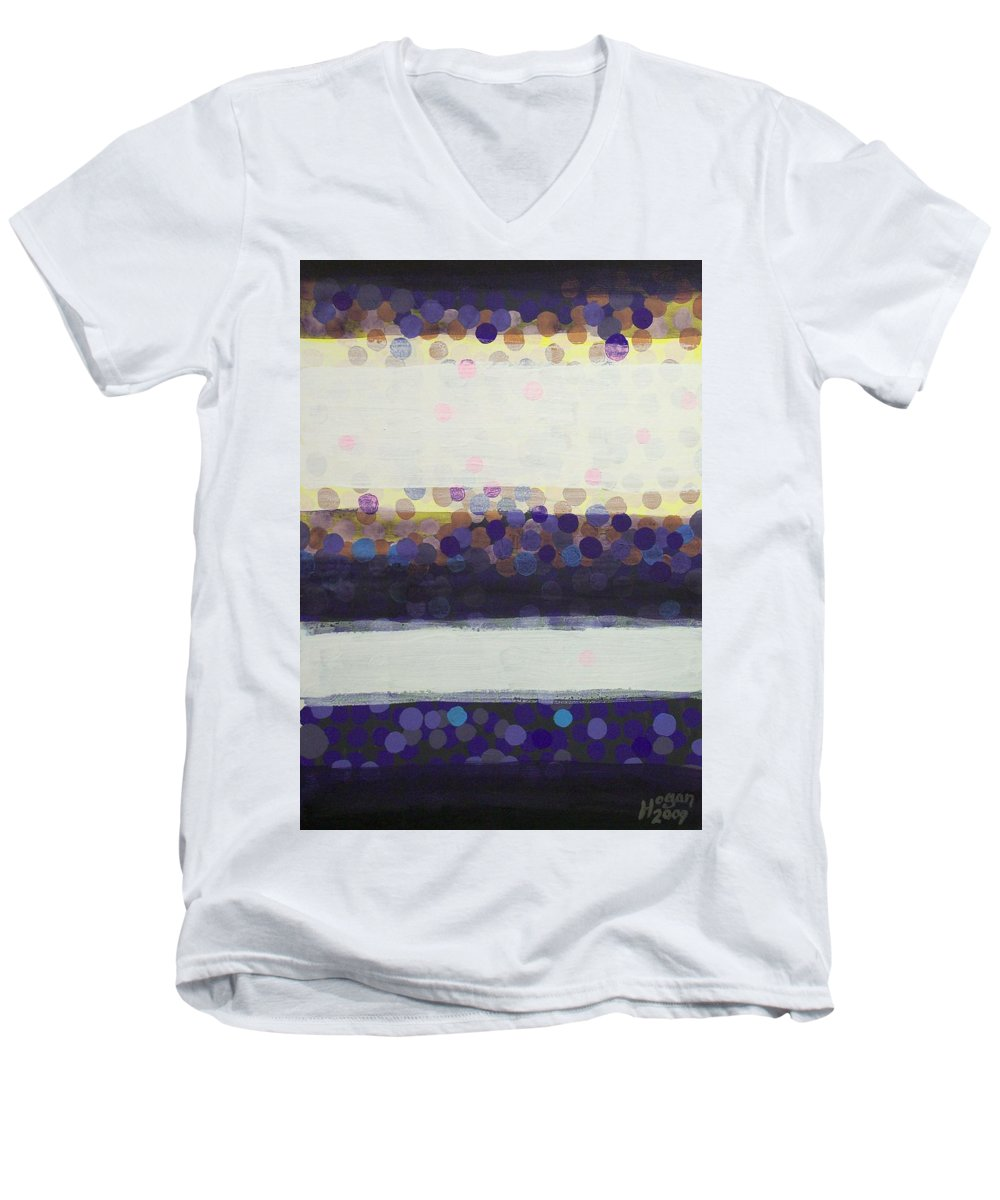 Final Moments Men's V-Neck T-Shirt featuring the painting Final Moments by Alan Hogan