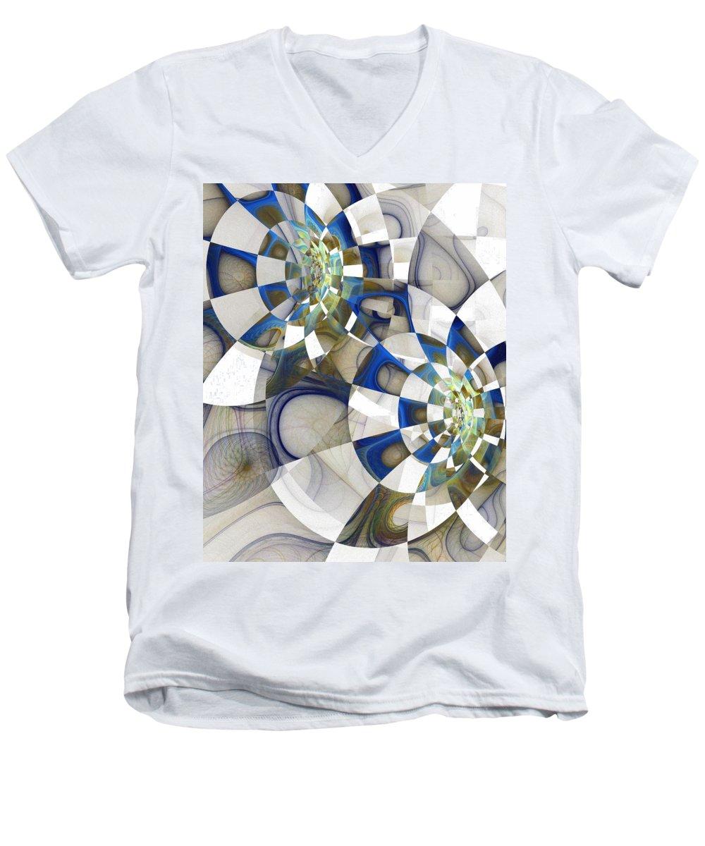 Digital Art Men's V-Neck T-Shirt featuring the digital art Flight by Amanda Moore