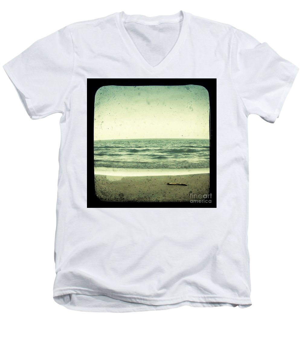 Ttv Men's V-Neck T-Shirt featuring the photograph Forget Yesterday by Dana DiPasquale