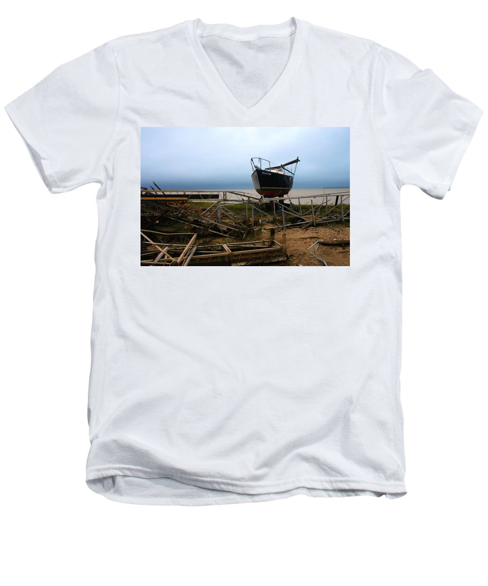 Clay Men's V-Neck T-Shirt featuring the photograph Ghost by Clayton Bruster