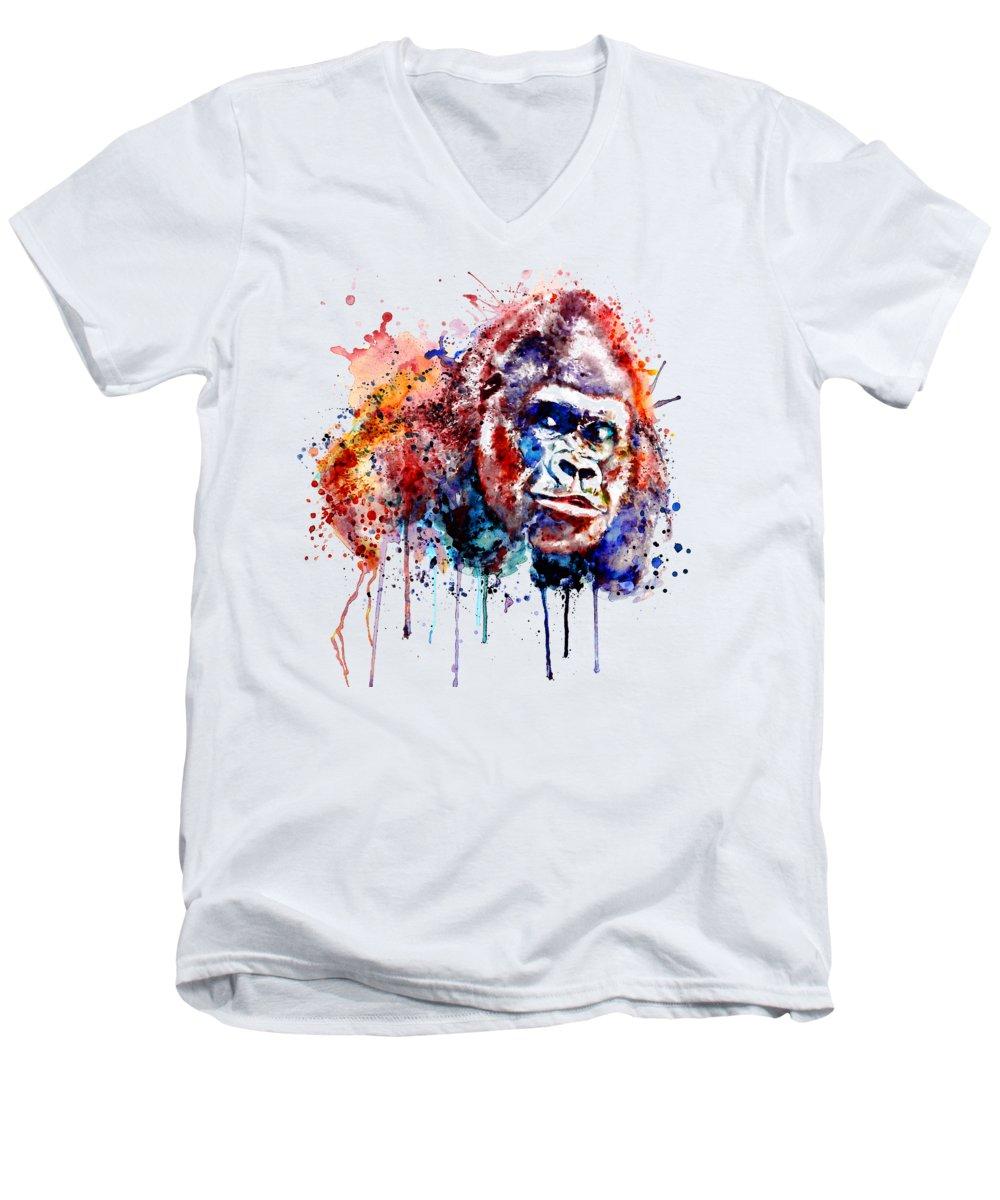 Gorilla V-Neck T-Shirts