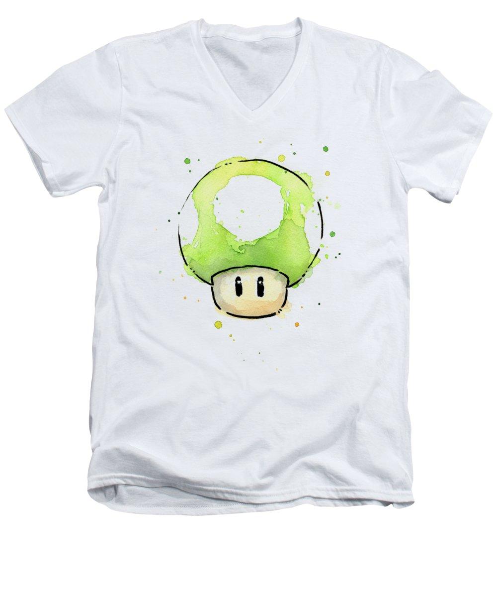 Mushroom V-Neck T-Shirts