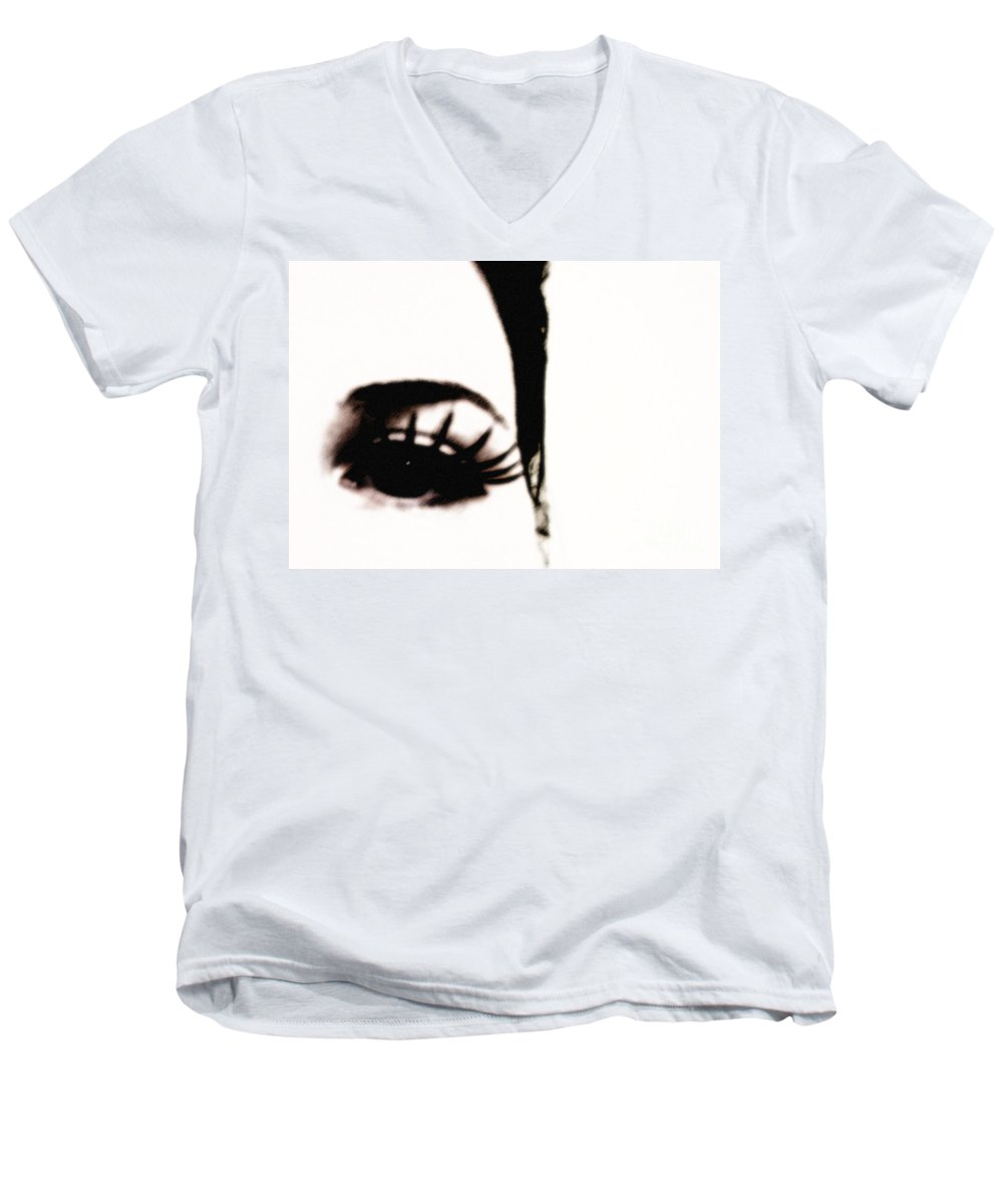 Eye Men's V-Neck T-Shirt featuring the photograph Hello by Amanda Barcon