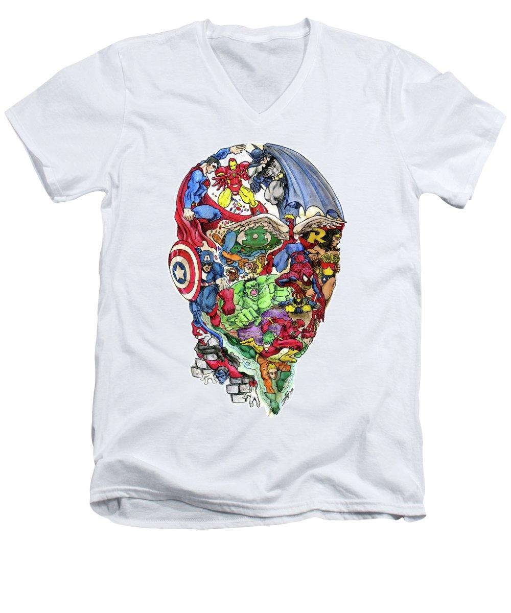 Spider V-Neck T-Shirts