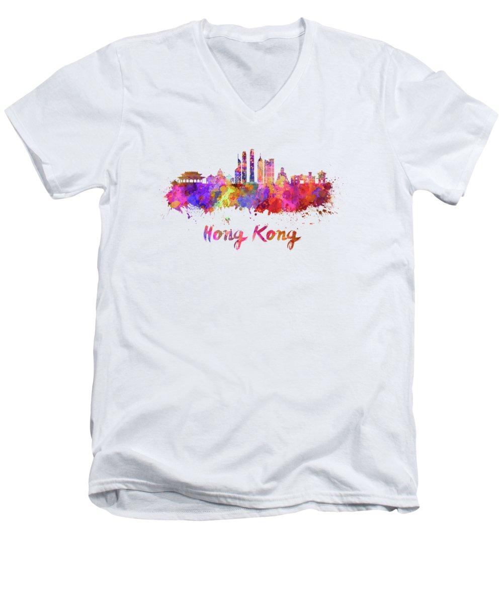 Hong Kong V-Neck T-Shirts