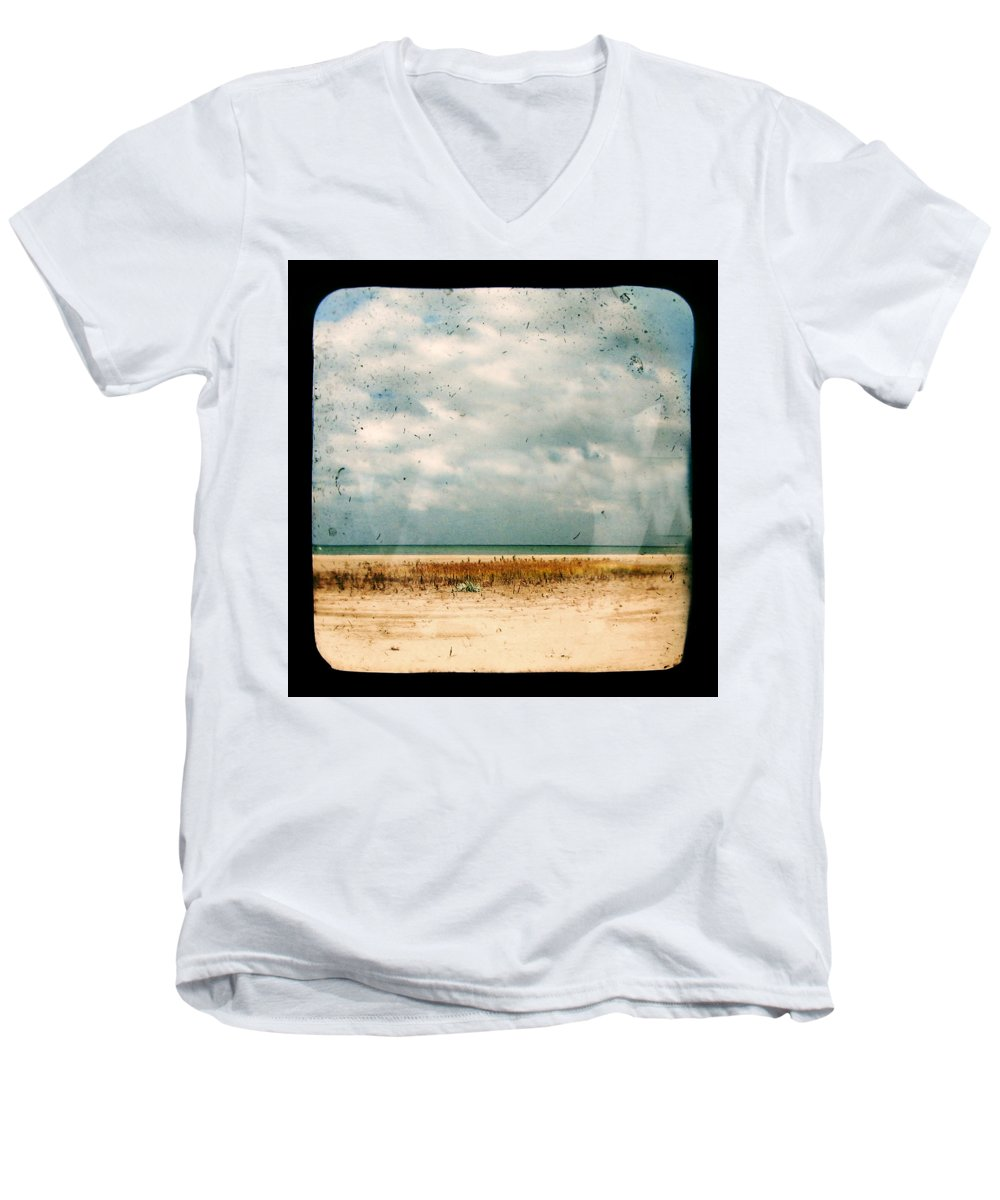 Dipasquale Men's V-Neck T-Shirt featuring the photograph I Honestly Believed by Dana DiPasquale