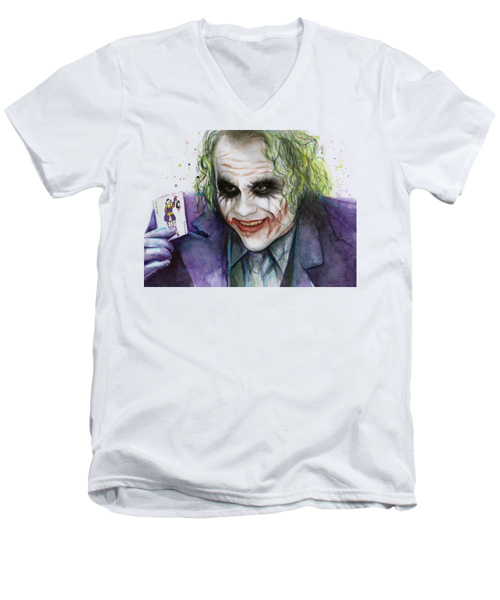 Heath Ledger V-Neck T-Shirts
