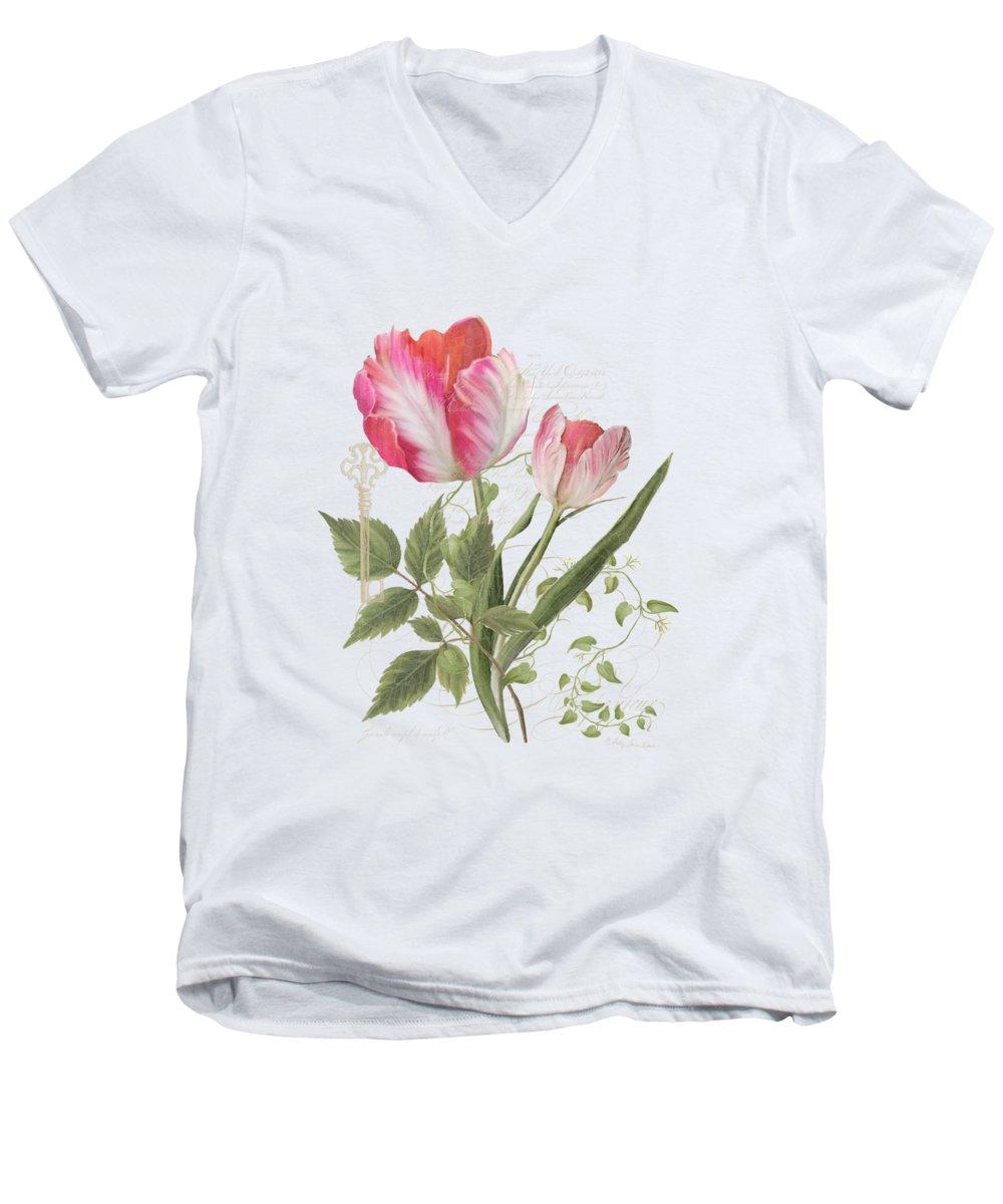 Tulips V-Neck T-Shirts
