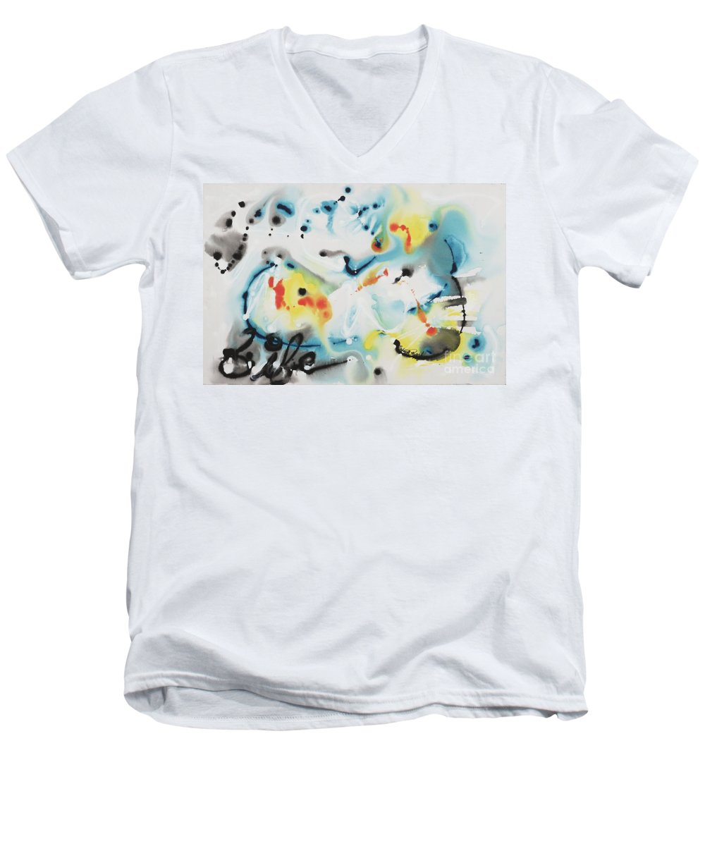Life Men's V-Neck T-Shirt featuring the painting Life by Nadine Rippelmeyer