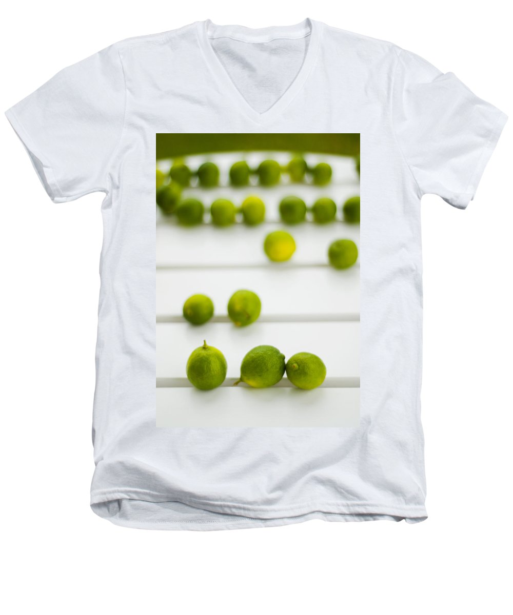 Green Men's V-Neck T-Shirt featuring the photograph Lime Green by Skip Hunt